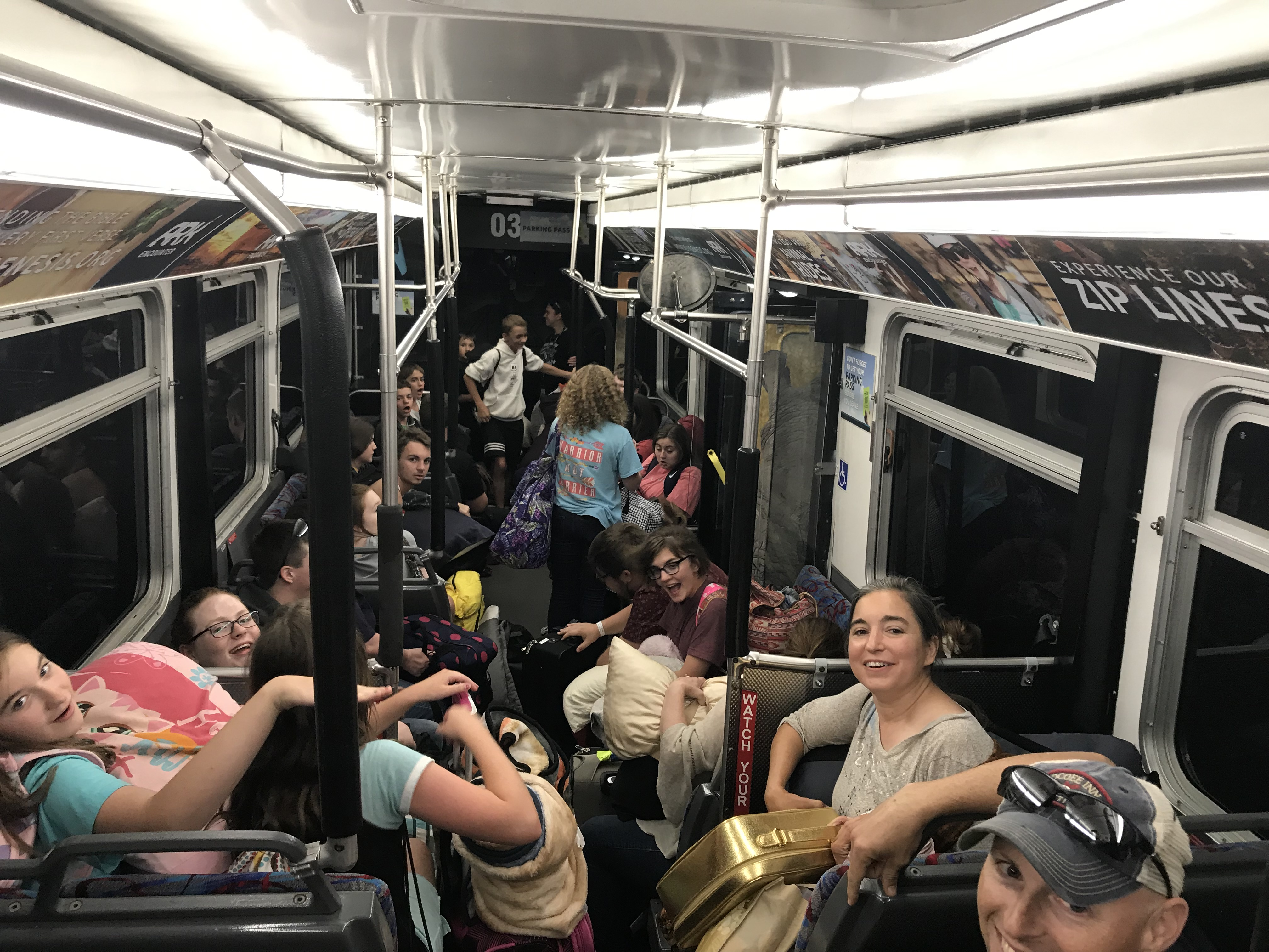 Cramped on the Bus