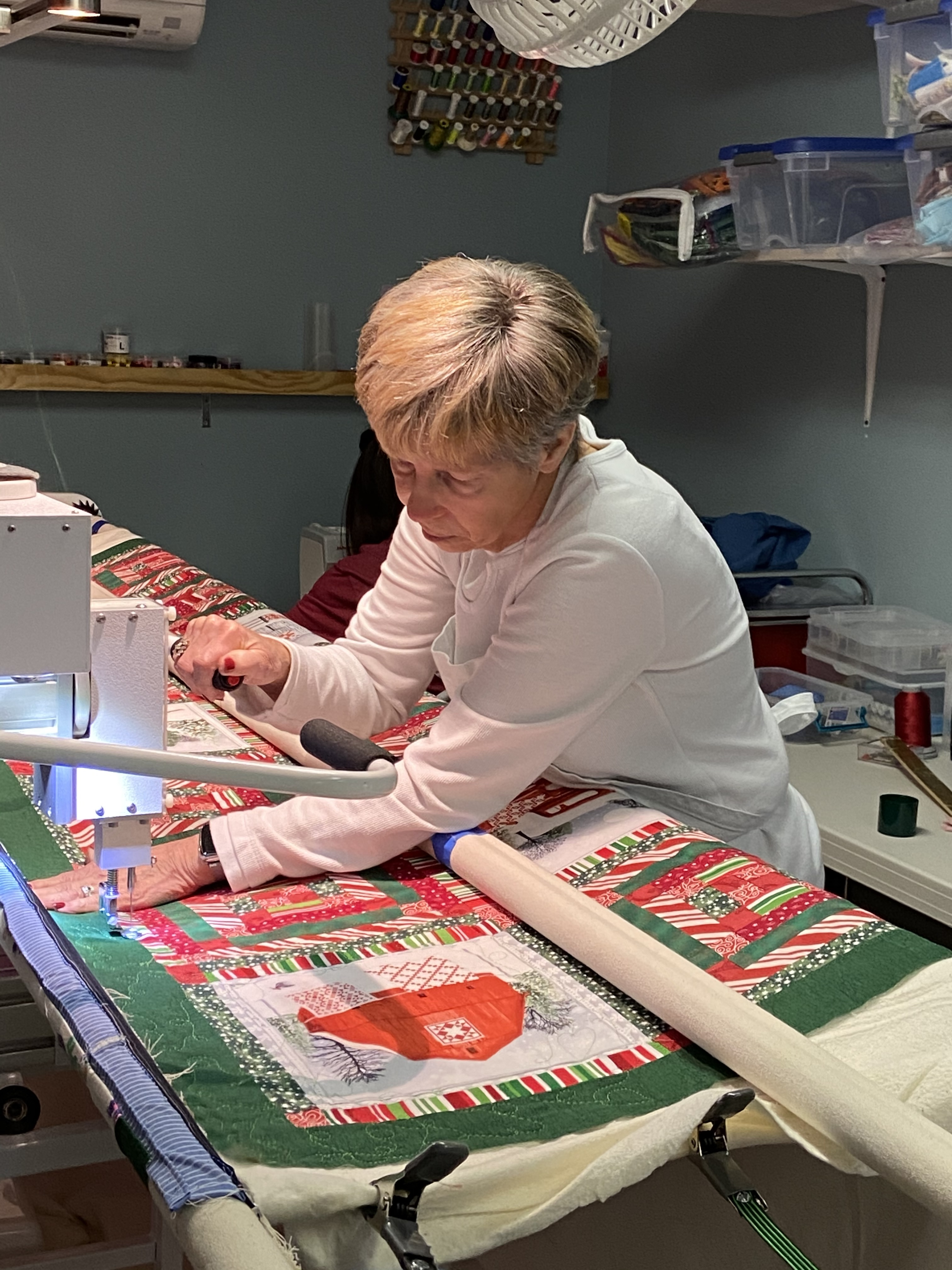 Quilting on Long Arm