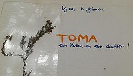 geboortekaartje TOMA