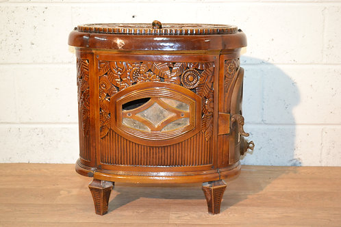 Art deco wood burner