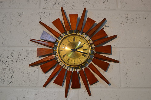 1960s Starbusrt wall clock