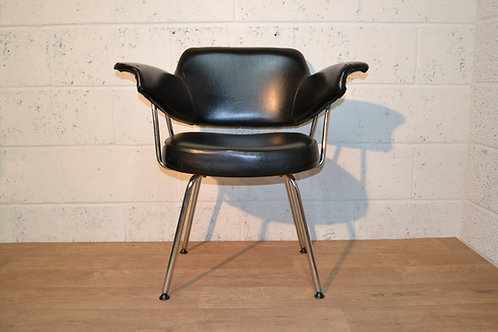 1960s Black vinyl chair