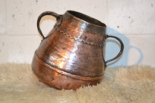 Antique large copper pot