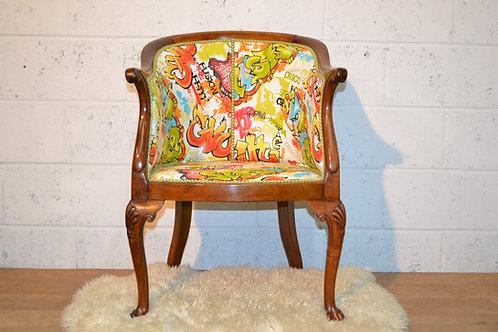 Walnut tub chair