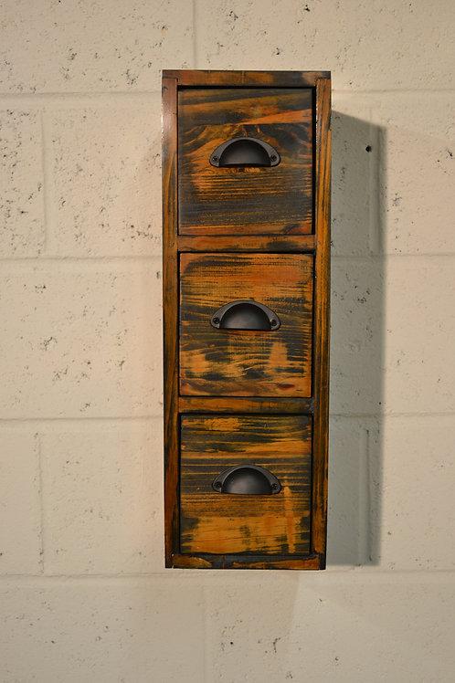 Hanging drawer storage.