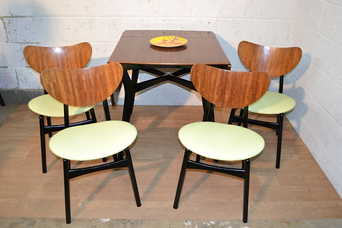 G plan set of table and chairs. Designed by E Gomme