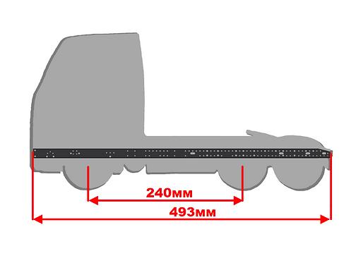 Средняя скошенная рама размером 493мм