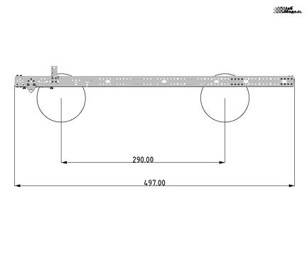 Средняя прямая рама размером 497мм