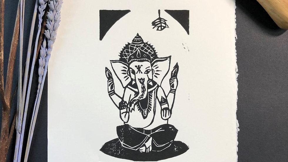 Good Luck - Elephant Relief Print