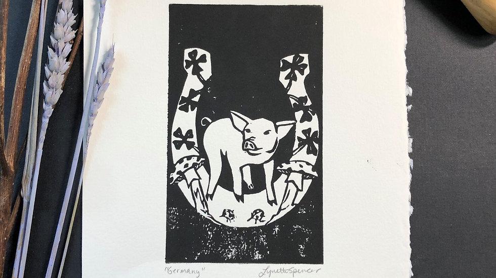 Good Luck - Horseshoe Relief Print