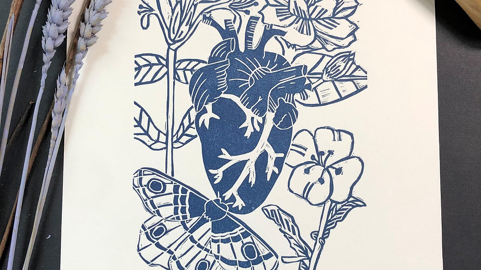 Heart Relief Print
