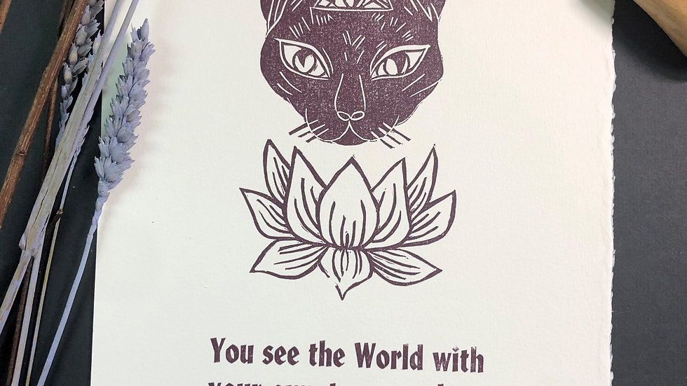 Third Eye Chakra Cat Print