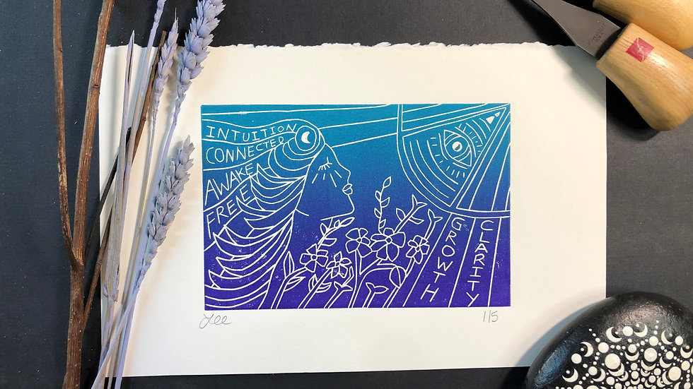 Girl with Eye Relief Print