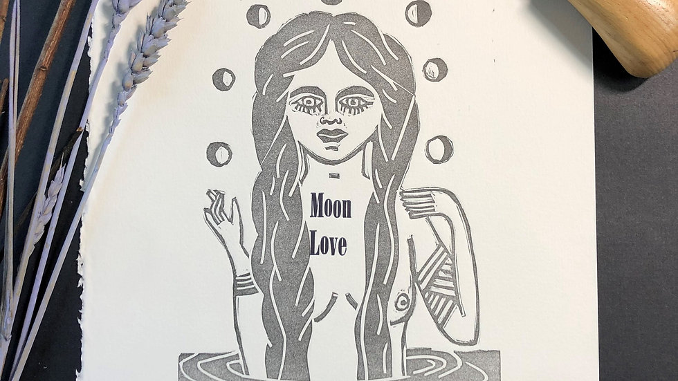 Moon Love Relief Print