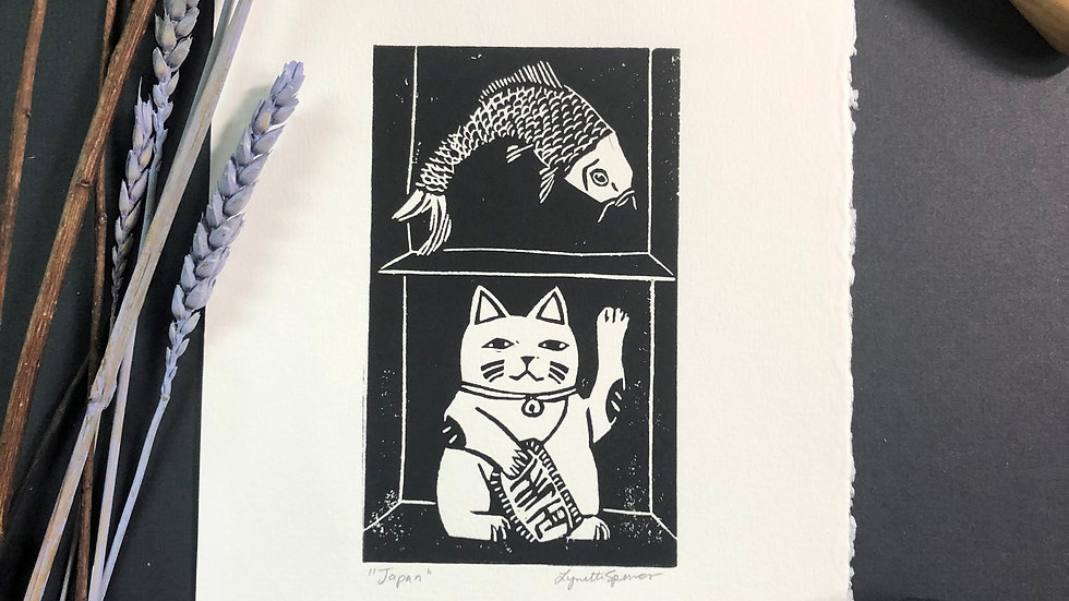 Good Luck - Cat Relief Print