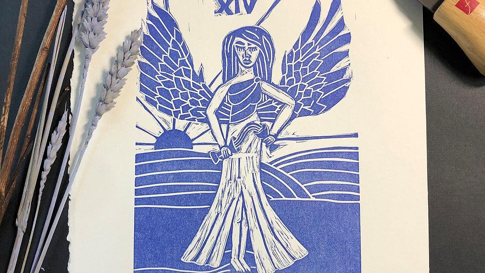 Temperance Tarot Relief Print