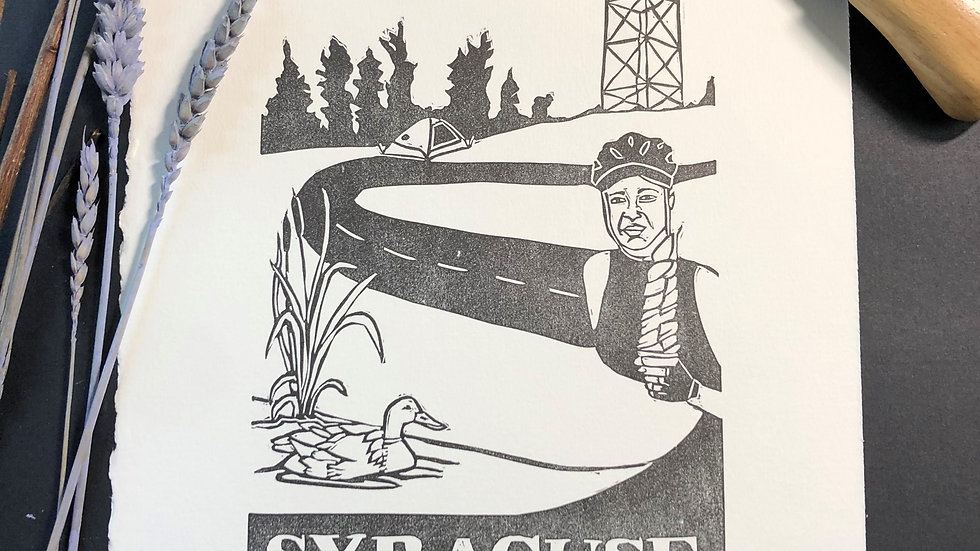 Syracuse Relief Print