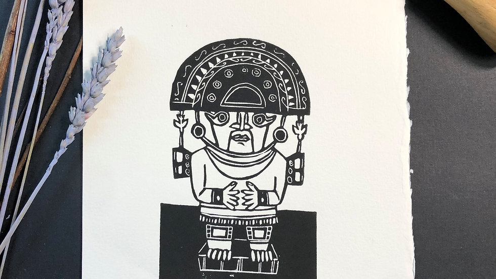 Good Luck - Totem Relief Print