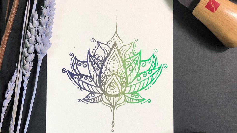 Lotus Relief Print