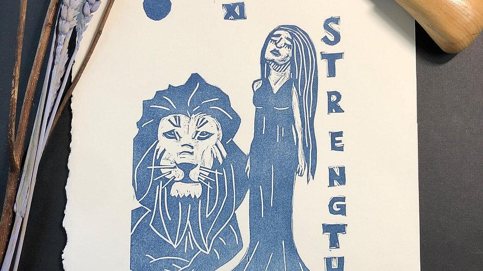 Strength Tarot Relief Print