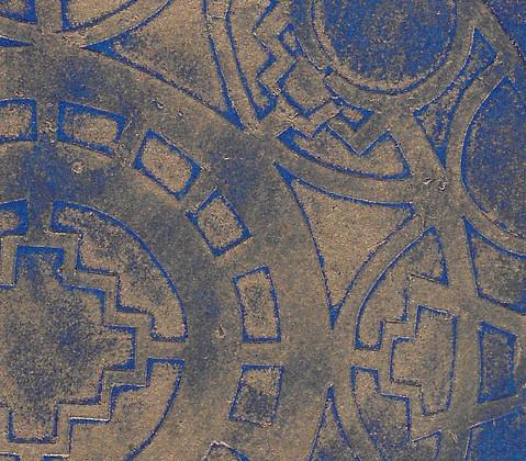 Sheild - collagraph detail