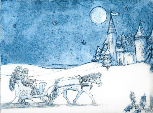 Sleigh Ride- aquatint