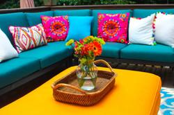Bohemian patio design
