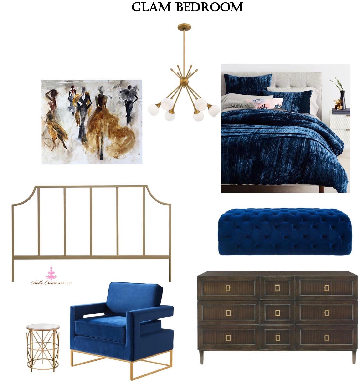 Contemporary Glam Bedroom