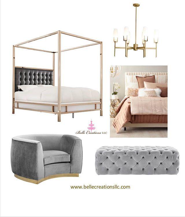 Feminine Contemporary bedroom