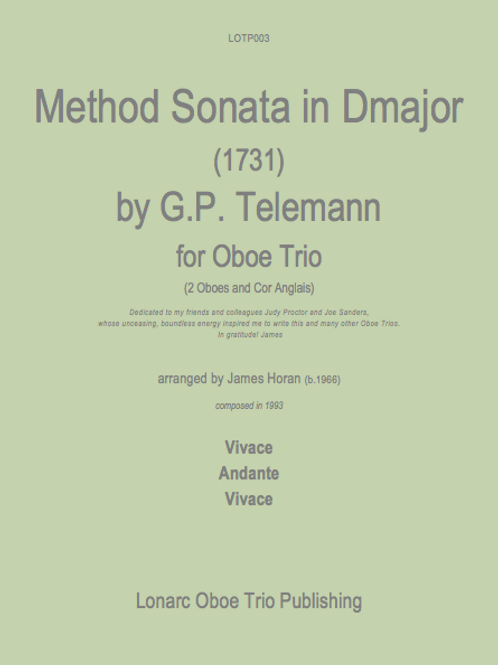 Method Sonata in D major by GP Telemann