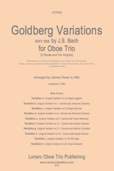 Goldberg Variations BWV 988 by JS Bach