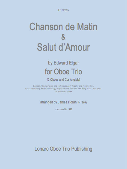 Chanson de Matin & Salut d'Amour by Edward Elgar