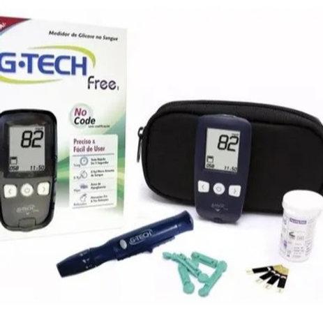 Aparelho Medidor De Glicose G-tech Free Kit Completo