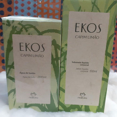 Kit Natura Ekos água de banho e sabonete líquido corporal
