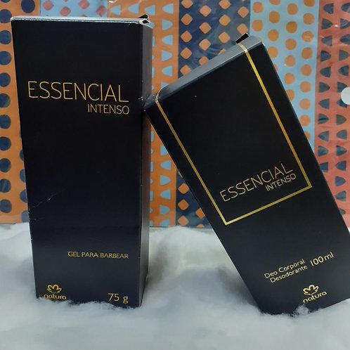 Kit Natura essencial intenso gel para barbear e desodorante