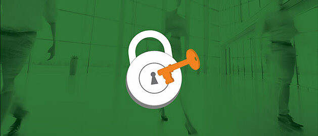 Lock with key, padlock, information security, access.
