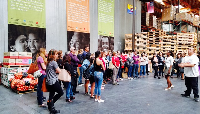san francisco marin county food bank volunteers gather for orientation