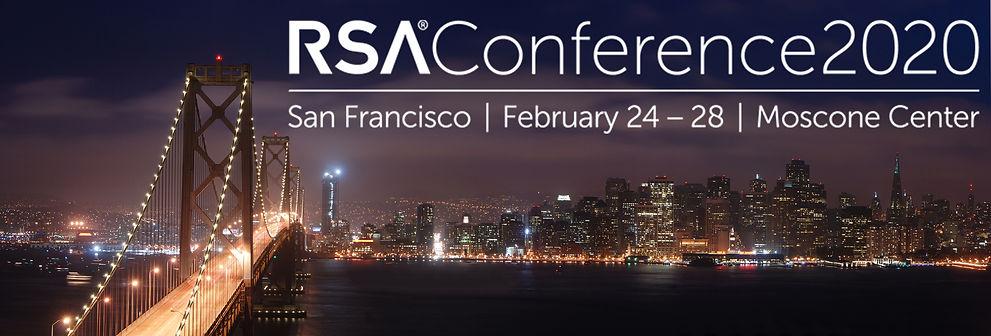RSA conference in San Francisco. San Francisco's skyline at night