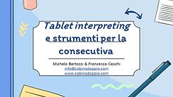 Slide Tablet interpreting e strumenti pe