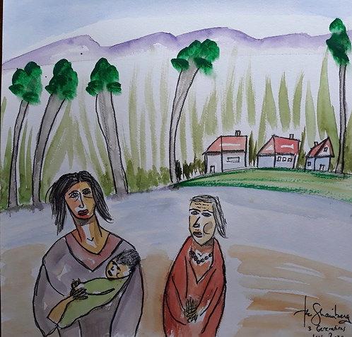 3 Generations of Village Women
