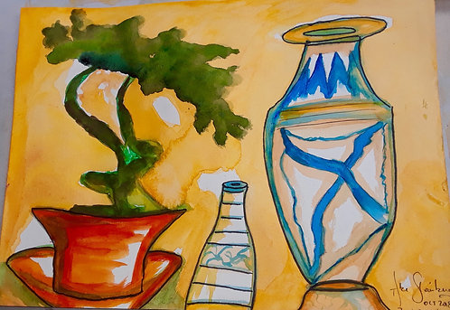Bonsai Tree & Vases