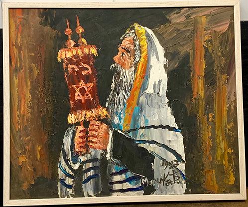 Rabbi Holding the Torah