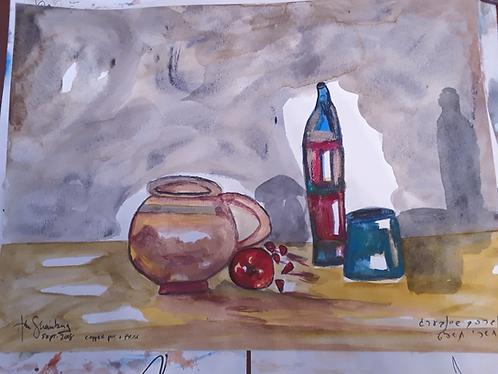 Copper Pot and Vases