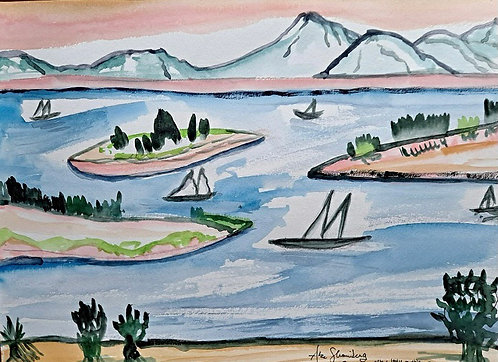 Isles and Boats. After B. Ruyles.1944