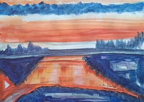 River Meditation.After John Henly.