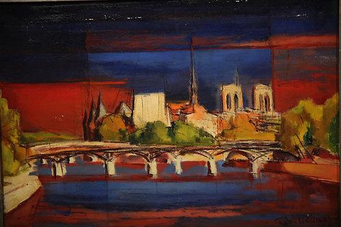 Paris Scene - Rob't Freiman