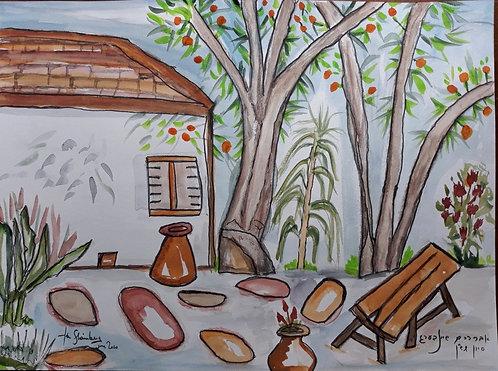 House with Orange Groves