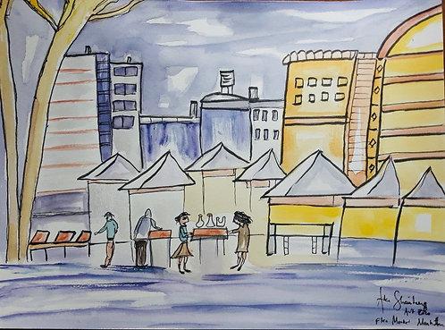 Flea market Manhattan. After Greg Kreutz