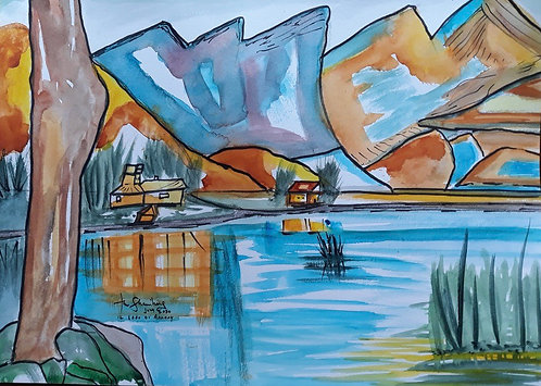 Lake Annecy after Cezanne