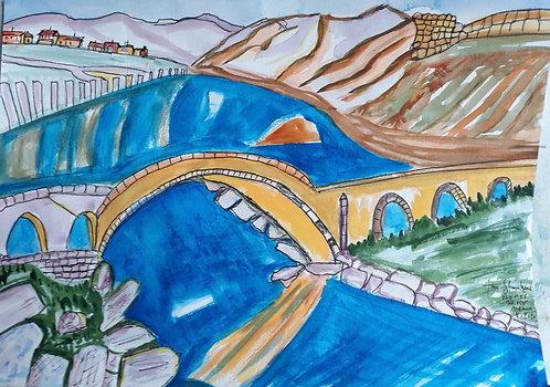Old Mes Bridge. Albania